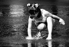 joy...child's play (LotusMoon Photography) Tags: joy joyful fun water play summer seasons childsplay blackandwhite dark light annasheradon lotusmoonphotography people girl child human