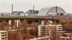 GOV42813 (avgusew) Tags: chernobyl disaster plant nuclear object power arch shelter reactor sarcophagus energy landscape view building construction air photo over station safe explosion aerial infrastructure fourth ukrainian atomic catastrophe tragedy pant confinement anniversary april ukraine kiev 2016 radiation radioactive