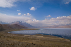 Tso Moriri (Ash and Debris) Tags: himalayas water landscape ladakh tsomoriri india himalaya mountains sky nature lake clouds ice mountain
