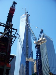 New York City - area around the Freedom Tower (nearing completion) (Guenther Lutz) Tags: impact freedomtower
