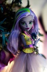 DSC_1831 (silksurgery) Tags: monsterhigh monster high moanica dkay doll mattel purple lilac dolls dead flowers