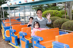 Waving (Wunkai) Tags: hitachishi ibarakiken japan  ziyiwang jeanwang     amusementpark train recreationalfacility