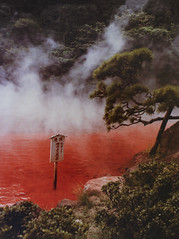 Blood hell pool in Beppu   (Clement Tang **catching up**) Tags:  beppu japan ironoxidepool travel summer nationalgeographic nature closetonatue concordians scenicsnotjustlandscapes waterscape landscape grandemaregroup mist naturalpool  springfountain