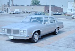 Found Photo - 1977 (?) Oldsmobile Ninety-Eight (Mark 2400) Tags: found photo 1977 oldsmobile 98 ninetyeight milwaukee avenue chicago