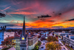November Twilight Greene Memorial Church Steeple Roanoke - Explore! (Terry Aldhizer) Tags: eve sunset greene memorial church steeple roanoke blue ridge mountains city valley sky clouds twilight evening november virginia terry aldhizer wwwterryaldhizercom