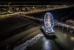 Pier by Drone (mcalma68) Tags: pier scheveningen drone night phantom4 dji seascape
