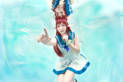 Manaka (bdrc) Tags: asdgraphy soft focus mukaido manaka nagi asukara cosplay girl portrait underwater floating cyan sony a6000 selp1650 kitlens meikon waterproof housing catherine water pool float kl malaysia