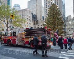 FDNY Engine 65 Fire Truck with Rockefeller Center Christmas Tree, Midtown Manhattan, New York City (jag9889) Tags: 20161201 jag9889 engine e065e christmastree rockefellerplaza outdoor 2016 rockefellercenter fdny apparatus bravest firedepartment firedepartmentofthecityofnewyork firetruck firefighter firstresponder newyorkcityfiredepartment newyorksbravest pumpertruck truck vehicle newyork unitedstates us