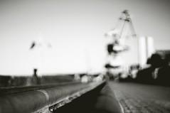 Osthafen Oldenburg (Petra Kaap Photography) Tags: minolta mdrokkor 50mm114 hafen port sw bw bokeh perspektive