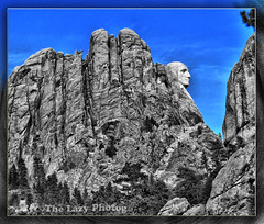 Feb 3 2013 - Alternate view of George's profile (lazy_photog) Tags: lazy photog elliott photography mount rushmore black hills south dakota george washington side view selective color