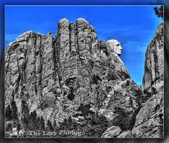 Feb 3 2013 - Alternate view of George's profile (lazy_photog) Tags: lazy photog elliott photography mount rushmore black hills south dakota george washington side view selective color