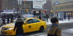 Sheridan Square  Greenwich Village  NYC       (DSC09509) (waitingfortrain) Tags: sheridansquarenyc nyc greenwichvillage 7thavesouthnyc grovwstreetnyc w 4th street greenwich village nycvillage cigars karavaspizzagreenwichvillagenyc billboards signage newyorkwinter newyorkers bodyworksexhibitnyc
