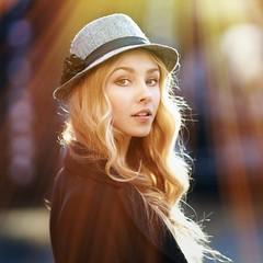 Alisa (Alexander Vinogradov) Tags: girl pretty cute portrait flares flare sunny hat blonde 135mm russian