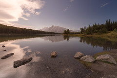 Two Jack Lake (Heather_K_Jones) Tags: alberta banff banffnationalpark canadianrockies jaspernationalpark rockymountains twojacklake bluesky canada forest landscape mountains nature reflections rockies scenery scenic tourism touristattraction travel trees woods