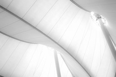 between me and Heaven (JAD modern Photography) Tags: tent structure airport denver air white