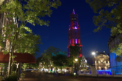 Dom tower by night, Huis ten Bosch
