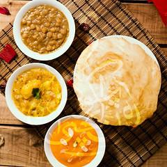 Halwa Poori (karachi.cuisine) Tags: pakistan india breakfast dessert cuisine potatoes yum indian traditional delicious pakistani mumbai karachi semolina indianfood puri alu halwa mughal poori cholay aloo pakistanicuisine mughlai pakistanifood choley chickpeacurry halwapuri halwapoori karachicuisine alooketarkari