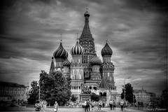 St. Basil's cathedral in Moscow (Dmitry_Pimenov) Tags: street old city travel sky bw history architecture design blackwhite russia moscow awesome sightseeing fujifilm redsquare travelrussia travelmoscow worldcities fujifilmxt1