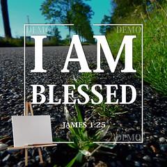 """""""Ik ben gezegend"""" Canvasdoek (Zalving.nl - De Zalfolie Webwinkel) Tags: poster god jesus canvas identity yeshua proclamation doek christelijk christelijke"""
