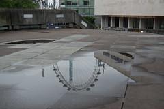 (Giramund) Tags: reflection puddle londoneye southbank