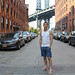 Solitude on Washington Street, NYC.