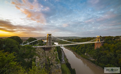 Clifton Suspension Bridge  Sunrise (JimCosseyPhotography) Tags: city uk morning bridge trees england urban green beautiful sunrise river bristol landscape countryside nikon long exposure industrial suspension capital revolution gorge avon clifton brunel coluorful
