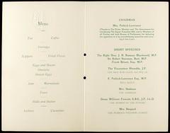 Victory Breakfast Menu at Hotel Cecil, 1928.
