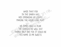 Mr Sweets the Fox Plays Santa #6INSIDEwm (Lizzy Love ♥ Oddball Art Co.) Tags: santa christmas cute eye art love reindeer cards big holidays paintings hats creepy antlers elf fox kawaii greeting bats lizzy 2015 oddballart