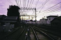 Adieu 2015 (yasu19_67) Tags: sunset sunlight film japan analog nikon kyoto railway superia400 expiredfilm photooftheday fujicolor filmphotography keihanrailway filmism