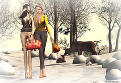 Nya's Shop (lukreciamerchiston) Tags: winter snow cold truth deer womans umbral nyas maitreya lelutka