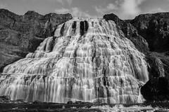 Dynjandi waterfall Iceland (tobiasbegemann) Tags: waterfall tobias begemann saarbrcken germany world street landscape people animal travel photography creative commons flickr outdoor dynjandi iceland bw black white