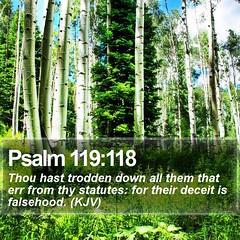 Daily Bible Verse - Psalm 119:118 (daily-bible-verse) Tags: salvation scripture alpha light spirit christianliving wordofgod