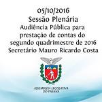 Sess�o Plen�ria com Audi�ncia P�blica 05/10/2016