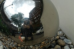 hello (alice.bolognesi) Tags: me photo reflection london londra city street coffe nature clouds