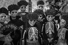 DOD 08480 (m.r. nelson) Tags: dayofthedead diadelosmuertosphoenix az arizona southwest usa mrnelson marknelson markinaz blackwhite bw monochrome artphotography portraits díadelosmuertosfestivalphx2016