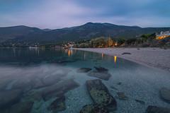 Crystal sea... (Vagelis Pikoulas) Tags: sea seascape landscape porto germeno greece 2016 autumn october vienna rock rocks canon 6d tokina 1628mm blue hour sunset