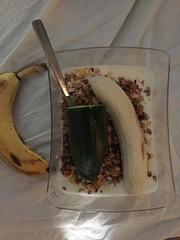 Frukost 2/10 (Atomeyes) Tags: mat frukost msli granola mandel gurka banan