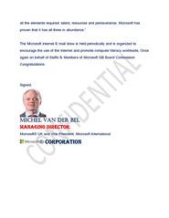 Microsoft Award:Contact Finance Director