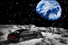 Moonride (markoknuutila) Tags: moon lunar car landscape volkswagen vw passat