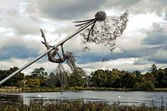Fairy on Dandelion (Graham'M) Tags: sculpture fairy dandelion wiresculpture trenthamgardens