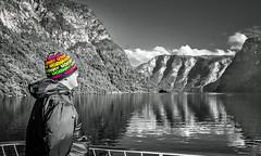 My son-in-law enjoying a Norwegian Fjord cruise (Digisnapper (George)) Tags: mysoninlawenjoyinganorwegianfjordcruise selectivecolour norwayinanutshell aurlandsfjord nature landscape
