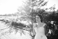 The Happy Bride (ty alexander photography) Tags: wedding weddingday bride weddingdress blackandwhite flowers park weddingphoto teamcanon tyalexanderphotography canon 5dmarkiii