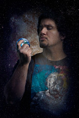 How I see it (Photography by XO) Tags: earth space galaxy nebula religion agnostic einstein alberteinstein photoshop photography photo portrait photoshoot pose people purplelight photograph photographer me man magenta latino goatee dark dude spanish studio selfportrait surreal shadows art artistic xavierolmo curlyhair color curlyblackhair curls nikond7200 nikon worrylines studying stare staring holding planet planetearth faith science evolution creationism surrealart religious free bound pessimism pessimistic faithless evidence facts truth