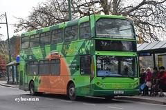 Wilts & Dorset 1829, HF05GGP. (EYBusman) Tags: go ahead wilts dorset more south coast bournemouth town centre hampshire bus coach new forest tour east lancs lancashire myllenium vyking convertible volvo b7tl hf05ggp eybusman