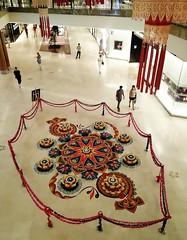 Happy Deepavali !!! (SM Tham) Tags: asia malaysia kualalumpur thegardens shoppingmall building interior indoors deepavali diwali hindu festivaloflights kolam rangoli decorations patterns design ricegrains colours colors prosperity people