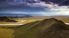Grasslands Autumn (craigkass) Tags: china xinjiang bayanbulak grasslands hiking clouds river kaiduriver centralasia