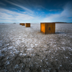 I have no idea what these things are (Ben_Coffman) Tags: bencoffman bencoffmanphotography surreal saltonsea boxes california landscape