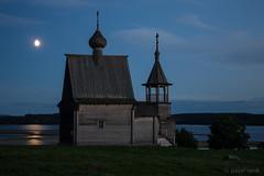 Moonrise over the lake (pavel iovik) Tags: moonrise lake  kenozero canon eosm night church russia russian landscape moon still silence peace lunar path lunarpath