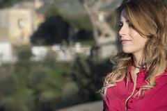 Carmen di Lauro (elparison) Tags: red blonde portrait ritratto candid downblouse tits