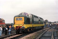 D9000 (R~P~M) Tags: train railway diesel locomotive england uk unitedkingdom greatbritain deltic 55 hortonroad shed depot britishrail gloucester gloucestershire